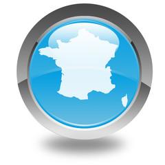carte de France sur bouton