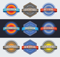 Retro badges. EPS10.