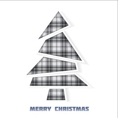 Christmas tree tartan pattern on white  background
