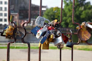 Lockers on a segment of the Berlin Wall,Germany