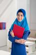 Pretty Muslim business woman