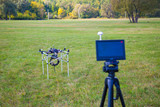 Display flight control multicopter poster