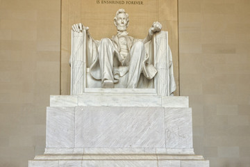 President Lincoln statue at Washington Memorial