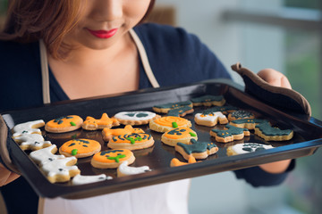 Tray with cookies