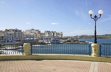 Embankment in Bugibba. Malta