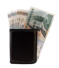 Swedish money in a wallet