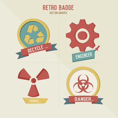 Engineer symbol retro design,vector