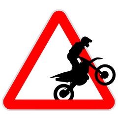 Danger sign - motocross