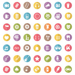 Entertainment icon set,color vector