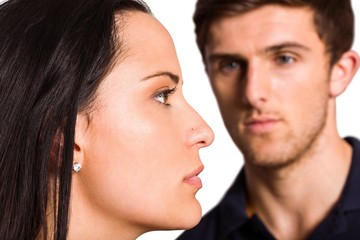 Couple not talking after argument
