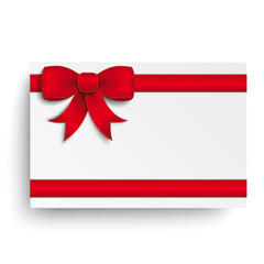 Red Double Ribbon White Coupon
