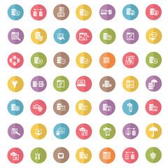 Database icon set,color vector