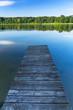 Jetty on the masurian lake in Poland