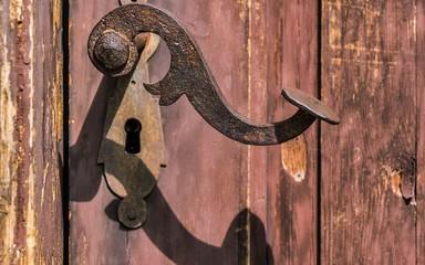 Handle nob wooden door lock!!