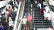 People hurrying in the station. Time Lapse