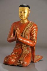 Statue of Mogallana disciple of Buddha