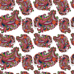 Seamless vector background in the style of doodles