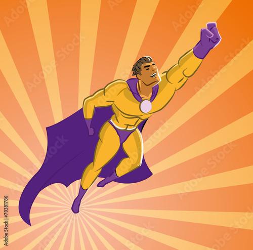 Superhero flying up - 70381786