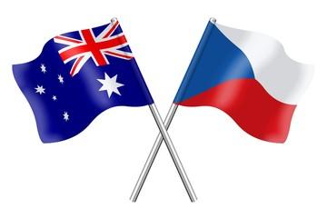 Flags: Australia and Czech Republic