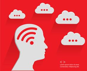 Brain cloud computing,red version