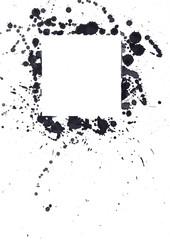Tintenfleck mit Quadrat