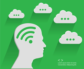 Brain cloud computing,green version