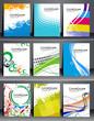 Set of Presentation of Flyer Design.
