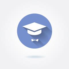 Vector graduation cap iconŒ