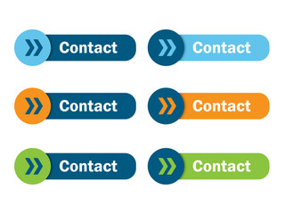 CONTACT button poster (smartphone social media profile)