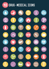 Construction flat icons,colour vector