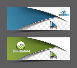 Set Of Modern Business Design Banner Template