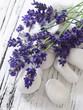 spa arrangement with lavender