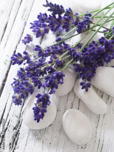 Foto op Canvas Lavendel spa arrangement with lavender