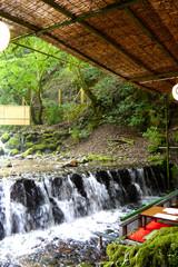 京都の貴船 川床