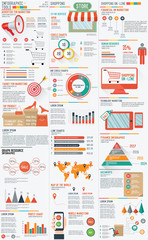 Shopping marketing info graphic design on white background