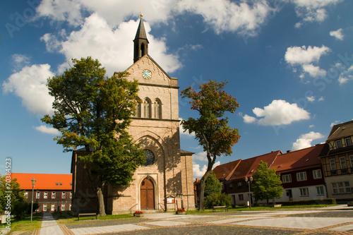 canvas print picture Kirche in Hasselfelde