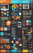 Infographic Elements, big three column info graphic design - 70384753