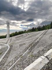 Paesaggio con campanile