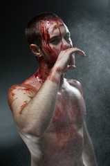 Gory man.Studio portrait