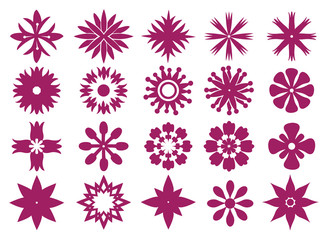 Floral Icon Design Vector Graphic Prints