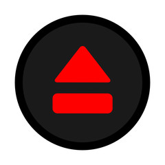 red black eject icon vector