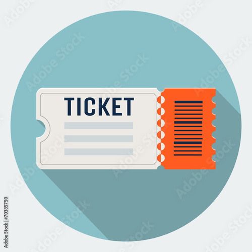 Vector ticket icon