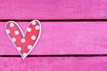 polka dot wooden heart