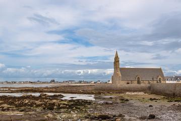 Chapel Notre Dame de la Pitie in the harbour of St Guenole. Brit