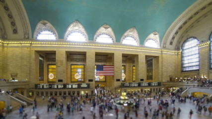 Grand Central Station in New York, Time Lapse