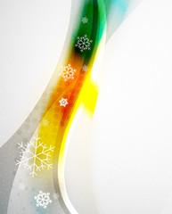 Christmas blur wave