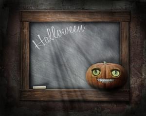 Halloween Holzrahmen - Schiefertafel