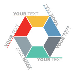 Communication concept - template with hexagon