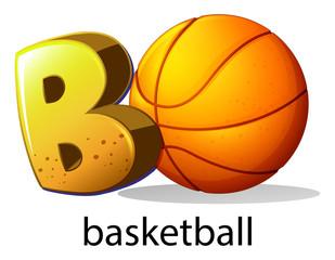 A letter B for basketball