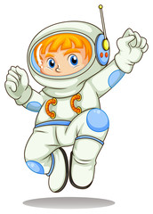 A young astronaut